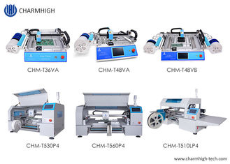 High Accuracy 6 Kinds Desktop SMT Pick And Place Machine Charmhigh PCB Assembly Line